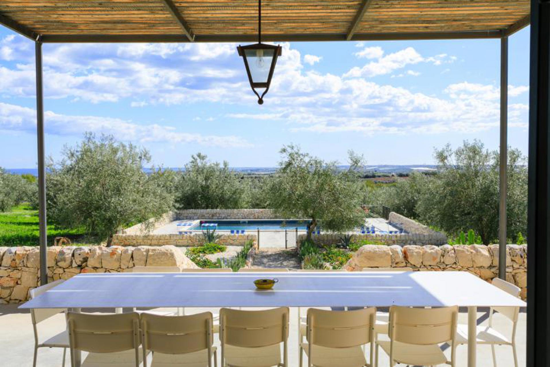 Agriturismo Sicilie Villa Sicilië met eigen zwembad en zeezicht