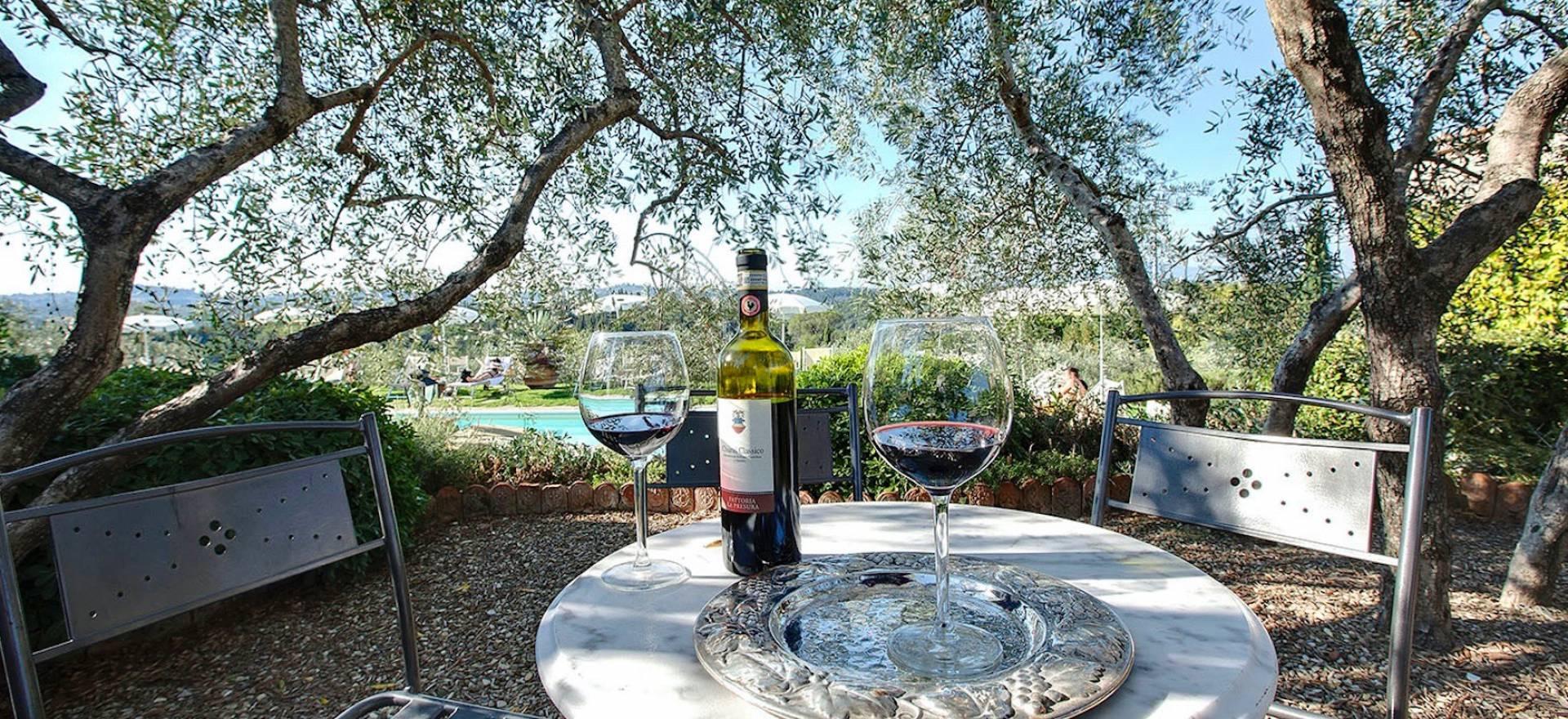 Agriturismo Toscane Agriturismo omgeven door wijngaarden bij Florence, Toscane