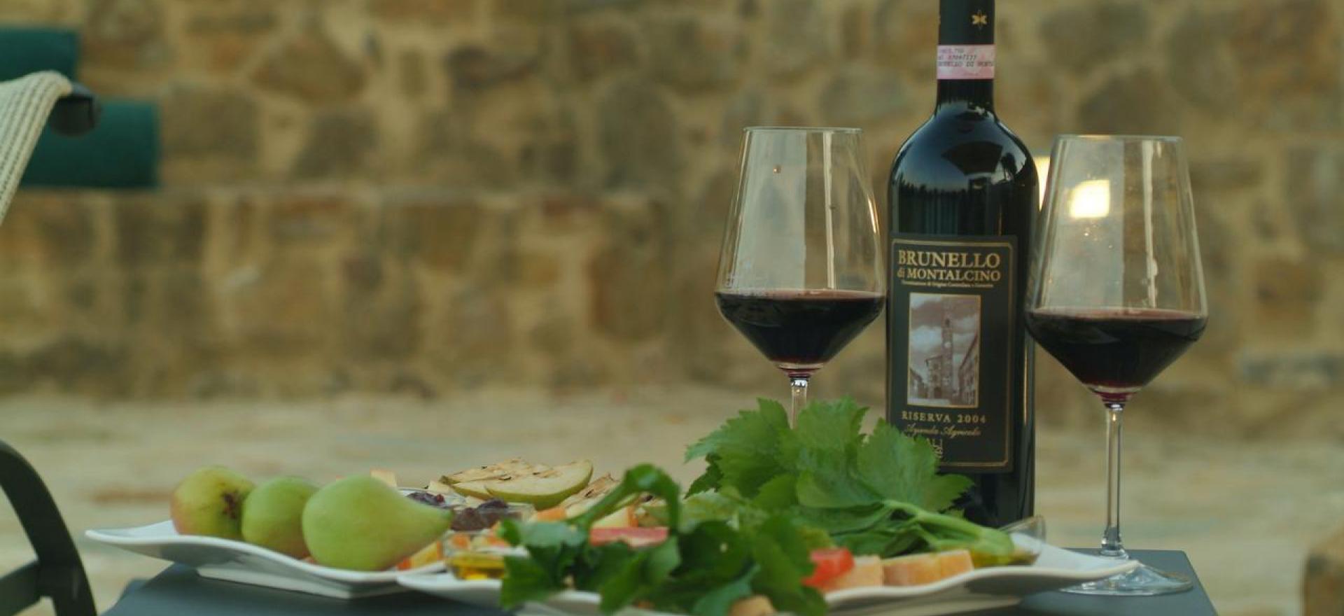 Agriturismo Toscane Luxe agriturismo omgeven door wijngaarden van Brunello