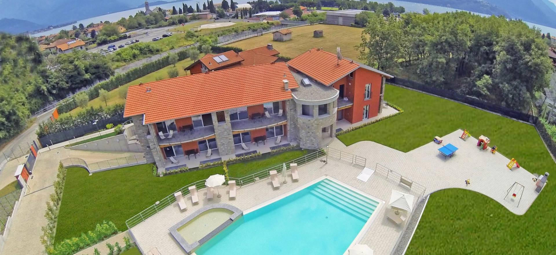 Agriturismo Comomeer en Gardameer Residence Comomeer, mooi zwembad en familievriendelijk